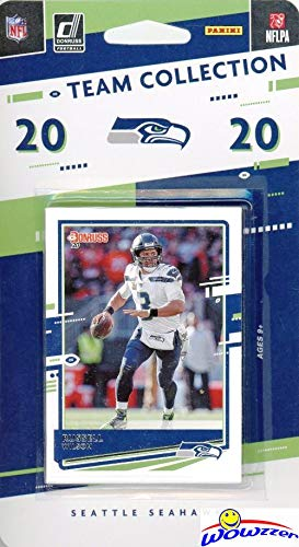 Seattle Seahawks 2020 Donruss NFL Football Limited Edition 12 Card Complete Factory Sealed Team Set with RUSSELL WILSON, Greg Olsen, Colby Parkinson & DeeJay Dallas RC & More Stars & Rookies! WOWZZER!