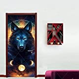 Wsmsp Selbstklebende 3D Tür Wandbilder Schälen Und Stick