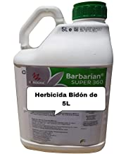 SUPER 360 Herbicida 5 litros Barbariani Maximo Control de Las Malas Hierbas Barbarian Herbicida Trata hasta 1666 m2 / m 1Lt Sin Lesion Superficial: Total absorcion 100% eficacia Envio 24/48 Horas