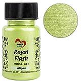 Royal Flash, Acryl-Farbe, metallic, mit feinsten Glitzerpartikeln, 50 ml (saftgrün)