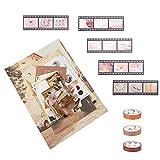 EXCEART 1 Juego de Papel de Álbum de Recortes DIY Papel de Patrón Decorativo Vintage Papel Scrapbook Papel Especial Hoja de Papel Artesanal Japón Origami Washi Tarjeta Que Hace Hojas