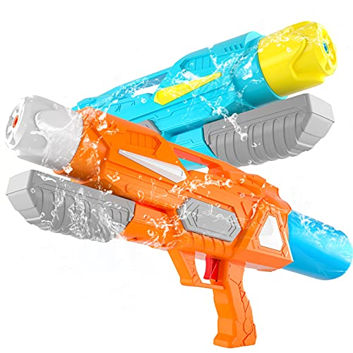 SNAEN Water Guns for Kids,2 Pack 19.7''Big Water Cannons Super Squirt...