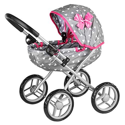 Kinderplay Puppenwagen Puppenkarre Kinderwagen Stroller KP0260S Spielzeug Puppe Puppenzubehör, Puppenkinderwagen - Gondola