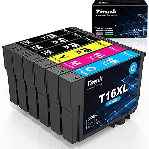 Timink 16 XL Cartucce d'inchiostro Compatibili per Epson 16XL Sostituzione con Epson WF-2510 WF-2010 WF-2520 WF-2530 WF-2540 WF-2630 WF-2650 WF-2660 (6 Pezzi)