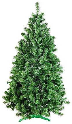 DecoKing 52525 220 cm Árbol de Navidad Artificial PVC Verde con Soporte de Plástico Decoración Navideña Abeto Verde Lena