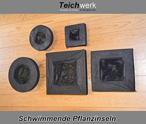 Schwimmende Pflanzinsel Gartenteichinsel Pflanzeninsel schwimmend (35 x 35 cm Mediumrechteck)