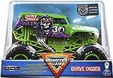 Monster Jam Oficial Grave Digger Monster Truck, vehículo Fundido a presión, Escala 1:24