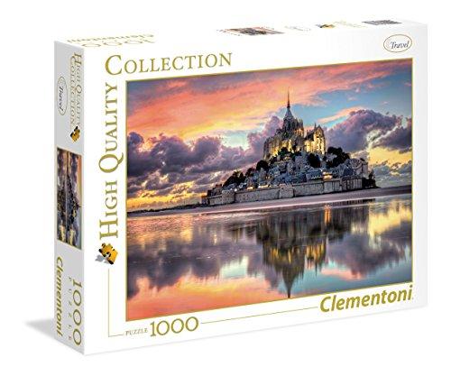 Clementoni-Le Magnifique Mont Saint-Michel Puzzle, 1000 Pezzi, Multicolore, 39367