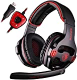 Sades Wired USB 7.1 Channel Virtual Surround Stereo Gaming Headset...