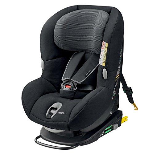 Bébé Confort Milofix - Silla de coche, grupo 0+/1, de 0-18 kg, color black raven