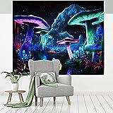 efluky Wandteppich Psychedelic Wald Wandbehang Waschbar Tapestry Elegant und Geheimnisvoll Wandtuch für Wohnzimmer Schlafzimmer Home Dekor(150CM x 130CM)