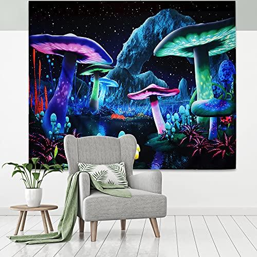 efluky Wandteppich Psychedelic Wald Wandbehang Waschbar Tapestry Elegant & Geheimnisvoll Wandtuch für Wohnzimmer Schlafzimmer Home Dekor(200CM x 150CM)