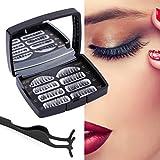 3D Magnetische Wimpern, Künstliche Wimpern Set, Wiederverwendbare Kunstfaser Magnetische Magnet Wimpern, 4 Magneten 5 Magneten Magnetic False Eyelashes