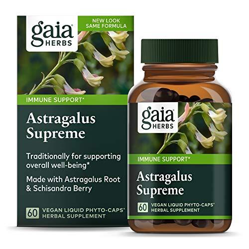 Gaia Herbs Astragalus Supreme, Vegan Liquid Capsules, 60 Count - Deep...