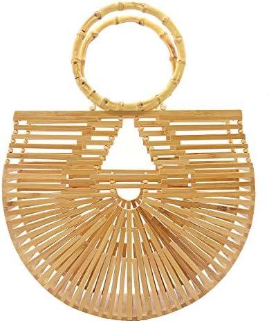 Miuco Womens Bamboo Handbags Handmade Purses Tote Bag Large product image