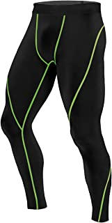 zhbotaolang Men's Quick-Dry Running Gym Leggings - Compression Pants Fitness Tights Base Layer Sportswear