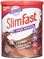 Meal replacement powder shake. Replace 1 to 2 meals per day as part of the SlimFast 3.2.1. Plan Every serving contains 15g protein and 23 essential vitamins and minerals Just add 250 ml skimmed milk to each serving No added sugar Chocolate flavour