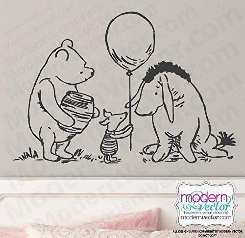 Classic Winnie Balloon Piglet Eeyore
