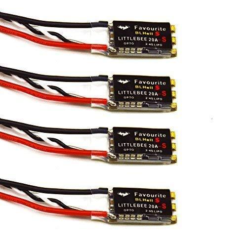 LHI 4 stücke Littlebee 20A ESC Oneshot125 Unterstützung 2-4 S Lipo für FPV Multicopter Quadcopter