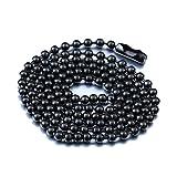 IFUAQZ Titanium Stainless Steel Bead Chain...