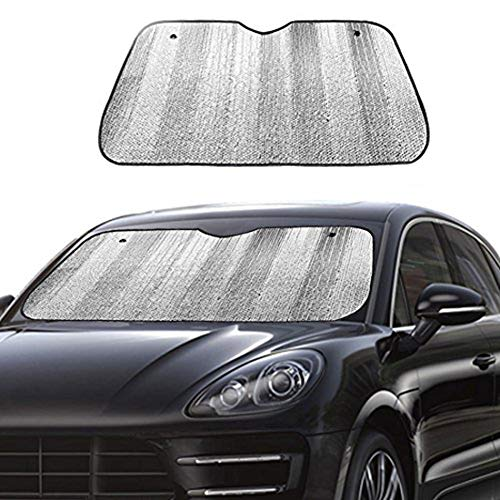Big Ant Car Windshield Sunshade UV Ray Reflector Auto Window Sun Shade Visor Shield Cover, Keeps Vehicle Cool- Sliver (55