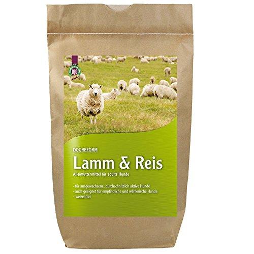 Schecker Dogreform Lamm und Reis 1 x 1,5 kg Trockenfutter für Hunde weizenfrei geeignet empfindliche Hunde völlig frei von Soja-/Kunstfleischprodukten