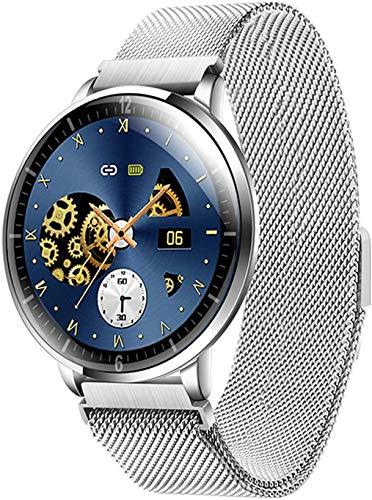 Gymqian Inteligente Reloj Táctil Completa, con Monitor de Ritmo Cardíaco Del Contador de Paso Del Sueño Monitor, Ip68 a Prueba de Agua Smartwatch, Soporte 14 Idiomas, Compatible con