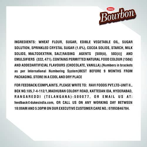 Dukes Bourbon Cream Biscuits, 8 x 150g