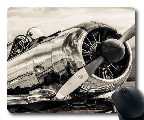 Vintage-Flugzeuge, große Gaming-Mauspad, Scotch Fell Kämpfer Nachfüllungen, Mauspad mit genähten Kanten