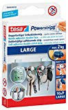 tesa Powerstrips LARGE für max. 2kg, Packung mit 10 Strips (2 Packungen = 20 Strips)