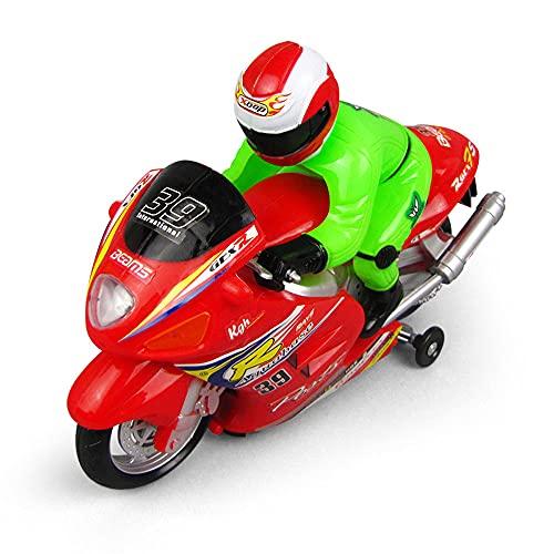 ZDYHBFE Carreras eléctricas Universal Móvil Motocicleta Luz Música Coche Simulación Modelo de Coche Niño Coche de Juguete Regalos para niños de 3 a 6 años Esquinas Redondeadas Juego Cerebral