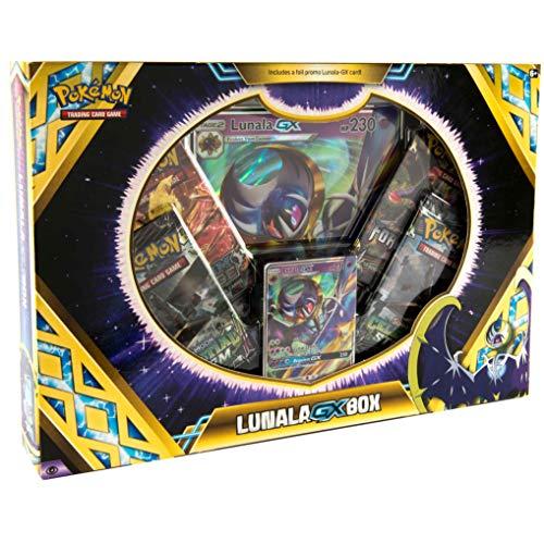 Pokémon TCG: Lunala GX Box   A Foil Promo Card   4 Booster Packs   A Oversize Foil Card   Genuine Cards, Multicolor