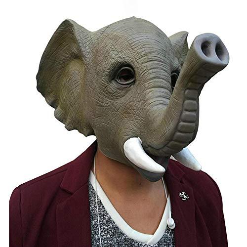 TBGGFSD Animali Elefante Testa Maschera Lattice Cappuccio Halloween Mascherare Spettacolo Puntelli Vendita Carino