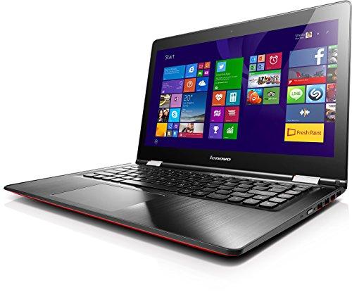 Lenovo YOGA 500 35,6 cm (14 Zoll Full HD IPS Matt) Convertible Laptop (Intel Pentium 3805U, 1,9GHz, 4GB RAM, 500GB HDD, Intel HD Grafik, Touchscreen, Windows 8.1)  rot