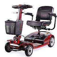車椅子軽量軽量コンパクト、折りたたみ式、ホイールパワー電動トラベルおよびモビリティスクーター、40cm幅のシート、開閉可能な手すり、電磁ブレーキ、回転可能なシート