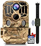 "CAMOLO WIFI Wildlife Camera 24MP 1296P with 32GB SD Card, Trail Camera with 120° Wide Angle Lens, Infrared Night Vision Motion Activated, Waterproof and 2.0"" LCD IR LEDs Scouting Game Camera"
