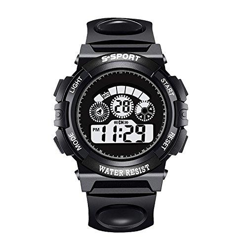 Challeng Herrenuhr Digital- LED Analoge Quarz-Warnungs-Datums-Sport-Armbanduhr der Mode-Männer für Studenten