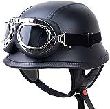 EBAYIN Cascos Half-Helmet Cascos Abiertos Brain - Cap Retro