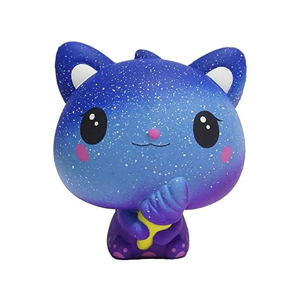 QAES Lovely Squishies, Kawaii Ice Cream Cat Penguin Unicorn Squishy, Creamy Aroma Slow Rising Squeeze Toys for Boys and Girls Gifts Soft Toy (Color : 10x10 cm) 7