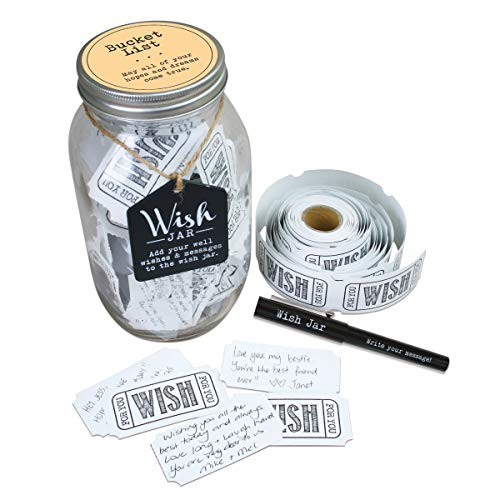 TOP SHELF Bucket List Wish Jar ; Unique Gift Ideas for Him...