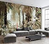 Tapete 3D Fototapete Handgemalte Tropische Regenwälder