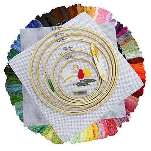 Jmitha Hilo Punto de Cruz, Hilos de Bordado, 100 Tipos de Colores Bordados Hilo de Bordar, Punto de cruz, perfecto para pulseras de la amistad, bordado, punto de cruz manualidades (100 Colors y2)