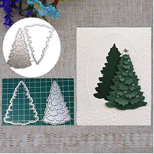 Christmas Deer Metal Die Cuts Merry Christmas elk Tree Invitation Card Cutting Dies Cut Stencils for DIY Scrapbooking Album Decorative Embossing Paper Dies Card Making