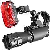Tuimiyisou Luz de Bicicletas Juego de luz LED de la Bicicleta con la Bicicleta fiabilidad Zoom se Ilumina Kit
