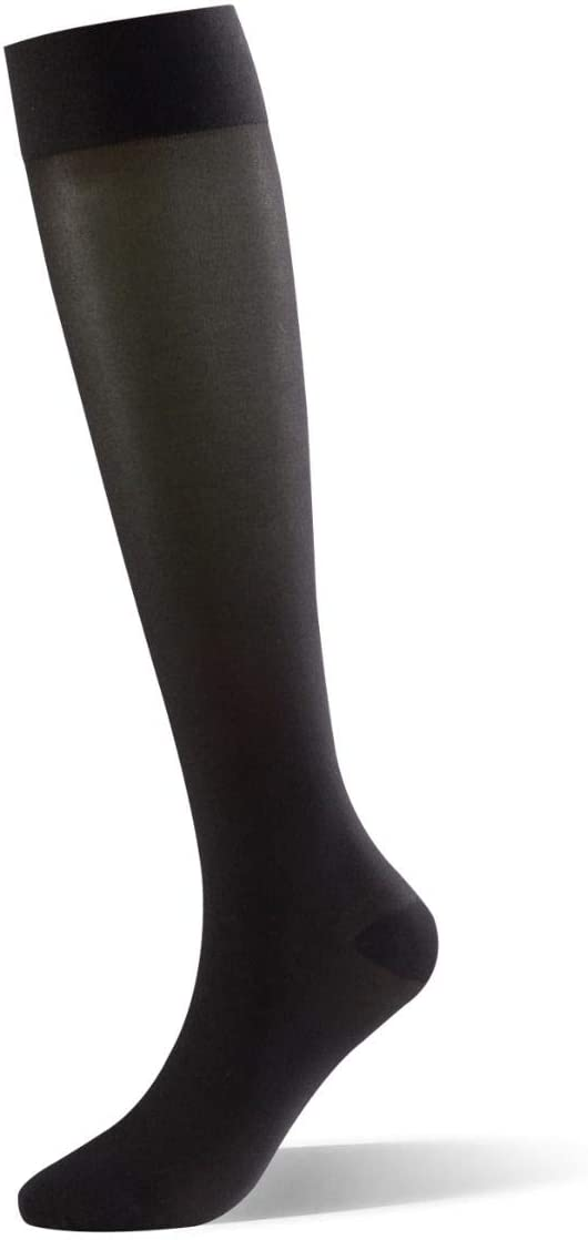 Dr Comfort Select Sheer 15-20 mmHg Below Knee Women Compression Stockings - Black - Small