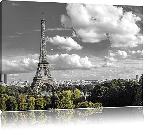 Énorme Tour Eiffel à Paris Photo sur Toile   Taille: 120x80 cm  Peinture Murale   Art Print   prêt Couvert