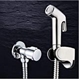 Lefran Double Mode Chrome Abs Sprayer Hand Held Toilet Bidet Spray Shattaf Douchette Wc Set & Shower Hose,B