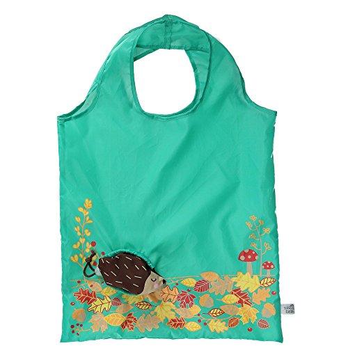 Sass & Belle Faltbare Tasche, Igel, Stoff, Braun, Einheitsgröße