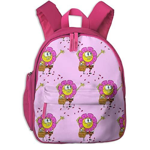 Spongebob Schwammkopf Happy Sprinkle Schulrucksack, Cool Boy Girl Universal Canvas Tasche Reisetasche, Rose (Pink) - Pink-48
