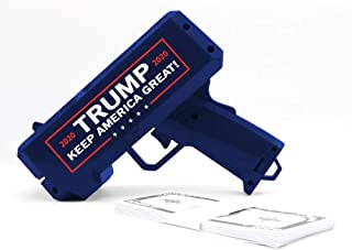 NinoStar Donald Trump Money Gun   Keep America Great 2020 Re-Election Cash Spray  Rain Money Shotter   Pack of 100 Presidential Dollar Bill + Free Bonus 2020 Car Air Fresh